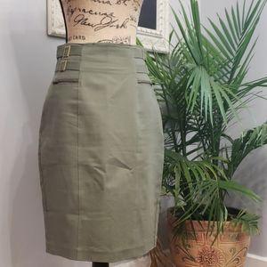 Worthington Olive Pencil Skirt 8 Tall
